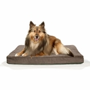 FurHaven Terry & Suede Deluxe Orthopedic Pet Bed - Espresso (Medium)