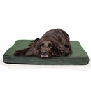 FurHaven Terry & Suede Deluxe Orthopedic Pet Bed - Forest (Large)