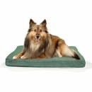FurHaven Terry & Suede Deluxe Orthopedic Pet Bed - Forest (Medium)