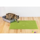 FurHaven Tiger Tough Cat Smile Tidy Paws Litter & Food Mat - Fresh Catnip