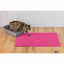 FurHaven Tiger Tough Cat Smile Tidy Paws Litter & Food Mat - Princess Pink