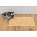 FurHaven Tiger Tough Lovecats Tidy Paws Litter & Food Mat - Bowl O' Cream