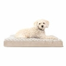 FurHaven Ultra Plush Deluxe Orthopedic Pet Bed - Cream (Medium)