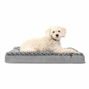 FurHaven Ultra Plush Deluxe Orthopedic Pet Bed - Gray (Medium)
