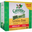 Greenies Dental Chews Grain Free Value Pack - REGULAR 36 Treats (36 oz)