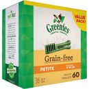 GREENIES Grain Free Treat-Pak - PETITE 60 Treats (36 oz)