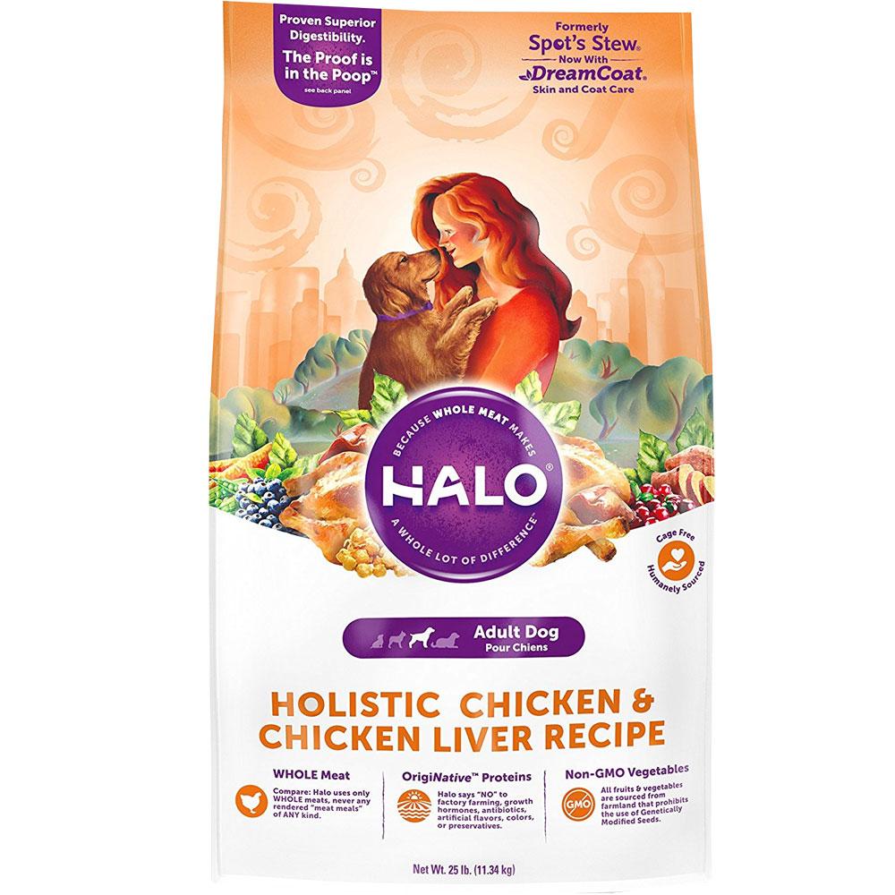 Halo Spot S Stew Wholesome Chicken Dry Adult Dog Food 25