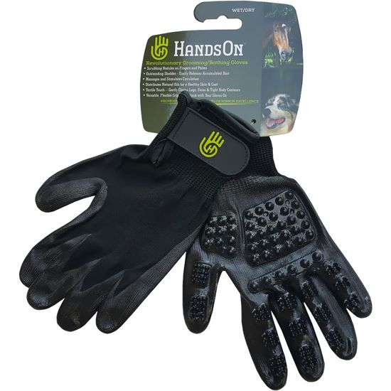 HandsOn Revolutionary Grooming/Bathing Gloves - Large