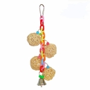 Happy Beaks Toy - 4 Vine Balls on Chain with Bell