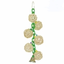 Happy Beaks Toy - 6 Vine Balls on Chain with Bell