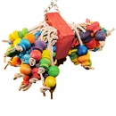 Happy Beaks Toy - Cluster with Hanging Wood Balls (Medium)