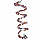 Happy Beaks Toy - Rainbow Cotton Rope Boing with Bell (Large)