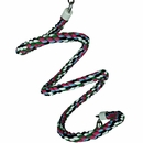 Happy Beaks Toy - Rainbow Cotton Rope Boing with Bell (Medium)