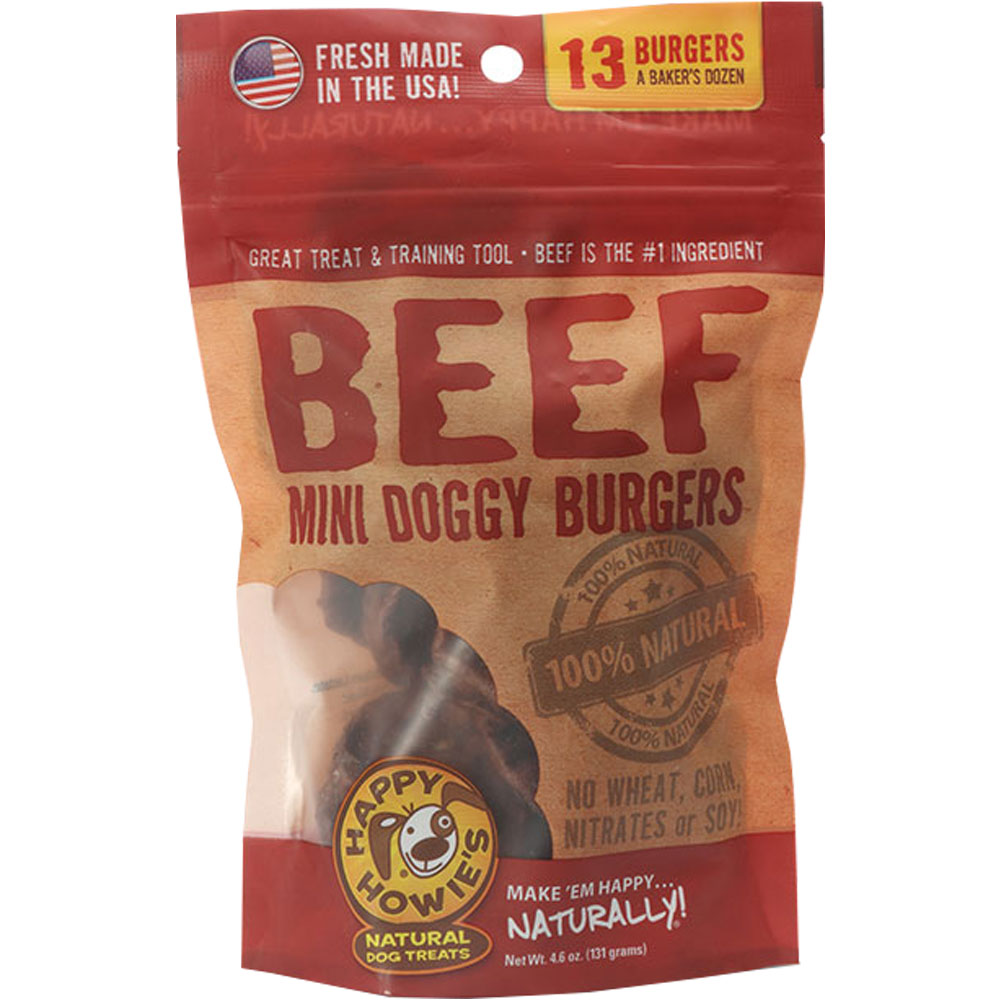 Happy Howie's - Beef Mini Doggy Burgers (13 Count