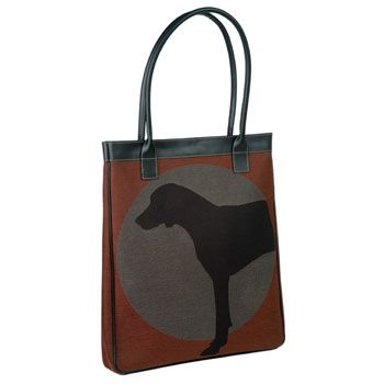 Hound In The Round Tote Bag - Cardinal