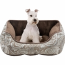 "JLA Pets Brutus Rectangular Cuddler - Brown (21x25"")"