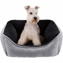"JLA Pets Buster Reversible Rectangular Cuddler - Grey (21x25"")"
