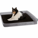 "JLA Pets Duke Right Angle Bolster Lounger - Grey (27x40"")"
