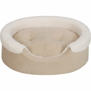 "JLA Pets Lucky Oval Cuddler with Cushion - Tan/Ivory (24x36"")"