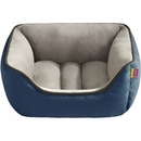 "JLA Pets Sparky Reversible Rectangular Cuddler - Blue (21x25"")"