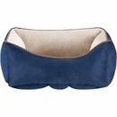 "JLA Pets Sparky Reversible Rectangular Cuddler - Navy (24x34"")"