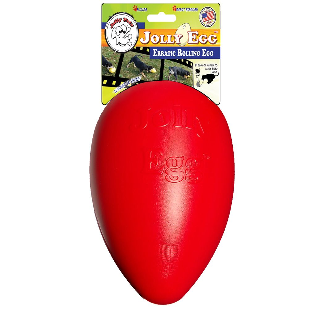 Jolly Pets Jolly Egg Dog Toy Red 12 inches Free Shipping