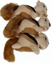Outward Hound Squeakn' Animals - Squirrel (3 pack)