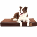 "LaiFug Orthopedic Memory Foam Pet Bed - Chocolate (Medium 34""x22"")"