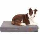 "LaiFug Orthopedic Memory Foam Pet Bed - Slate Grey (Medium 34""x22"")"