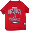 Los Angeles Angels Dog Tee Shirt - Large