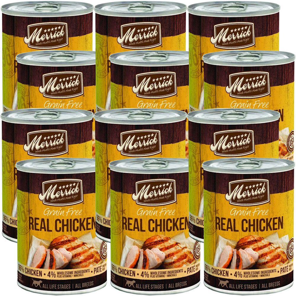 Merrick Grain Free - 96% Real Chicken Canned Dog Food ...