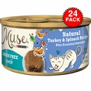 Purina Muse Natural Turkey & Spinach Cat Food Pate (24x3oz)