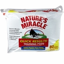 """Natures Miracle Quick Results Training Pads 22"""" x 23"""" (80 pads)"""