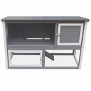 New Age Farm Columbia Rabbit Hutch - Grey