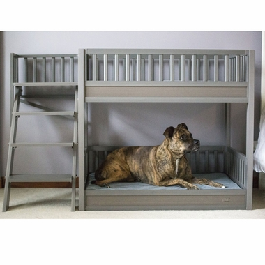 New Age Pet Bunk Bed For Dogs With Removable Cushions Espresso