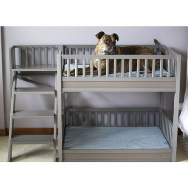 New Age Pet Bunk Bed For Dogs With Removable Cushions Grey