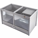 New Age Pet Jumbo Park Avenue Indoor Rabbit Hutch - Grey