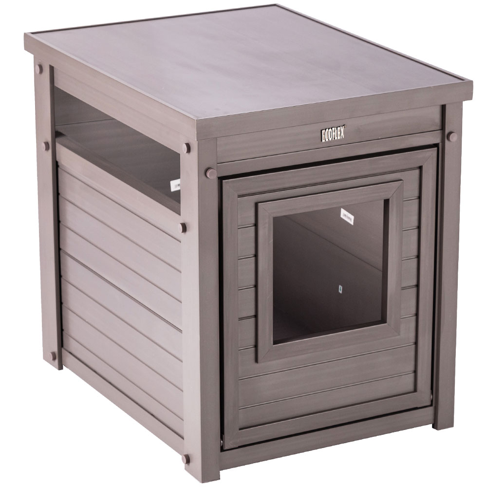 New Age Pet Litterloo Litter Box Cover End Table Grey