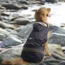 """One For Pets Safety Hooded Dog Raincoat - Dark Blue 16"""""""