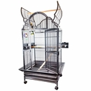 """Opening Victorian Top Bird Cage - White (32""""x23""""x64"""")"""
