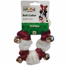 Outward Hound Holiday Bell Collar Red/White - Medium