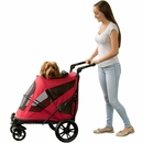 Pet Gear Excursion No-Zip Pet Stroller - Candy Red