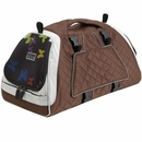 Petego Jet Set Pet Carrier with Forma Frame - Silver/Brown (Small)