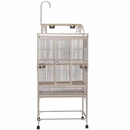 """Play Top Bird Cage with 5/8"""" Bar Spacing - Sandstone (32""""x23""""x66"""")"""