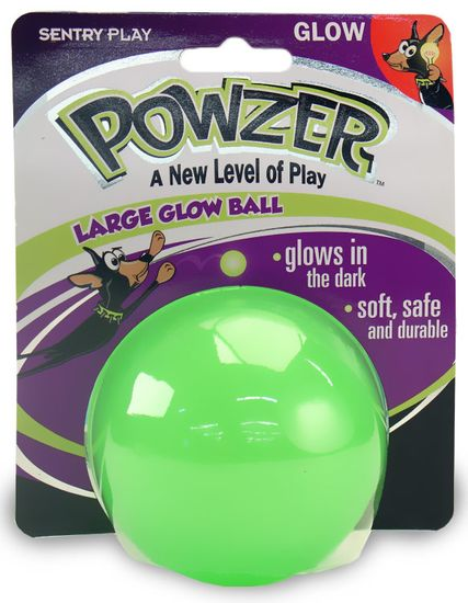 """Powzer Large Glow Ball for Dogs (3.5"""")"""