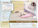 """Precision Pink SnooZZy Baby Crate 2000 24x18x19"""" - Two Door"""