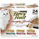 Purina Fancy Feast - Gravy Lovers Poultry & Beef Feast Variety Pack Canned Cat Food (24x3 oz)