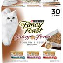Purina Fancy Feast - Gravy Lovers Poultry & Beef Feast Variety Pack Canned Cat Food (30x3 oz)