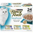 Purina Fancy Feast - Grilled Seafood Feast Variety Pack Canned Cat Food (24x3 oz)