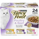 Purina Fancy Feast - Sliced Poultry & Beef Feast Variety Pack Canned Cat Food (24x3 oz)